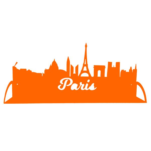 étagère en métal de paris en orange