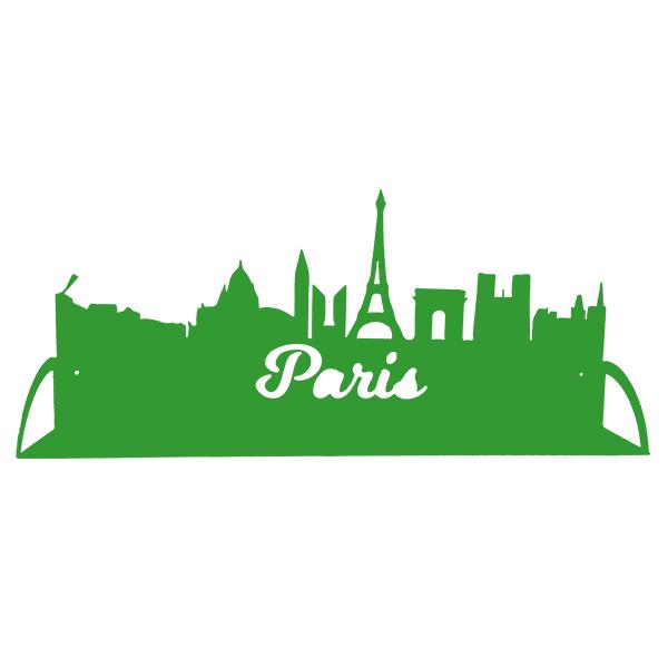 étagère en métal de paris en vert