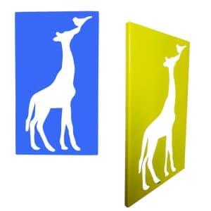 cadre en métal girafe face et profil