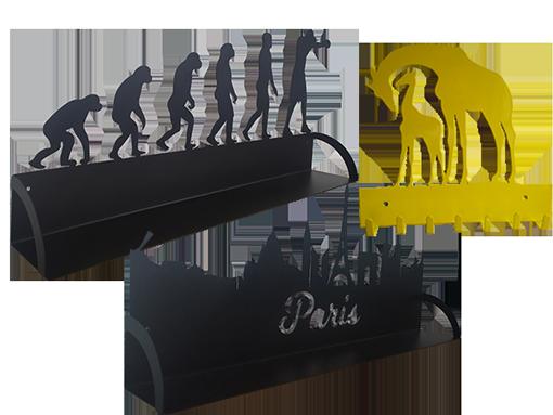 pateres et plaques murales en métal paris boxeur girafe pour catégorie