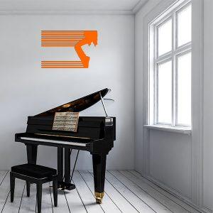 plaque murale metale moonwalk orange studio