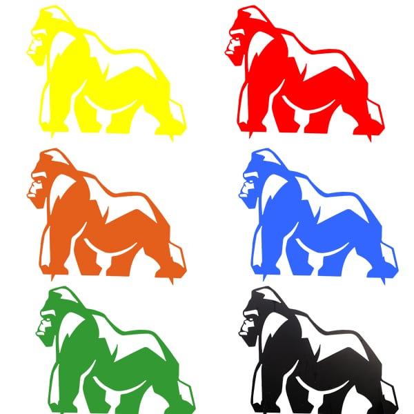 trophée en métal gorille mullti couleurs