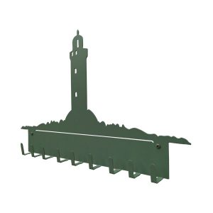 patère murale metal phare vert profil