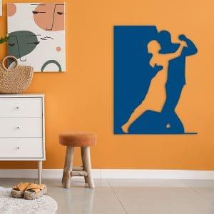 plaque murale metal danseurs bleu salon