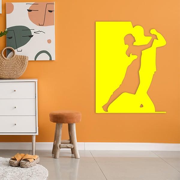 plaque murale metal danseurs jaune salon