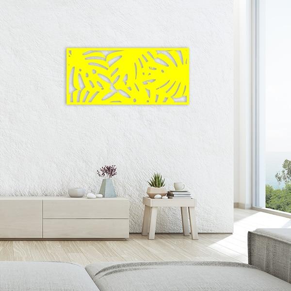 tableau forêt tropicale métal jaune salon