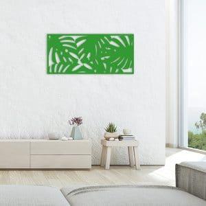 tableau forêt tropicale métal vert salon